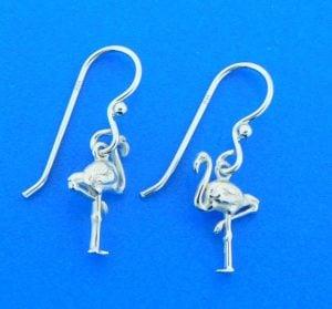 sterling silver flamingo earrings