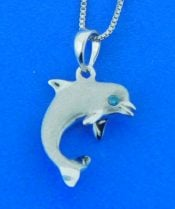 denny wong white gold dolphin pendant
