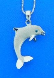 denny wong white gold dolphin pendant