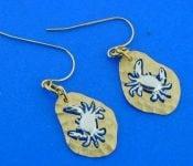 14k denny wong 2-tone crab earrings