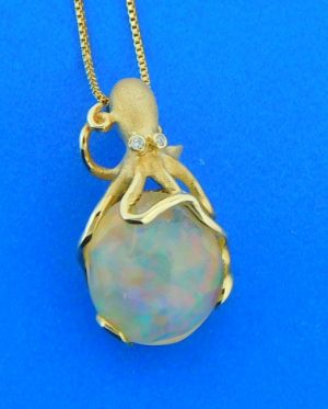 denny wong octopus opal pendant