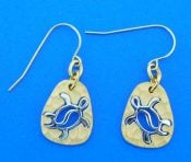14k denny wong sea turtle earrings