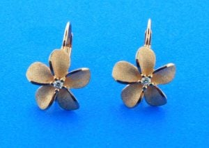 rose gold plumeria denny wong earrings