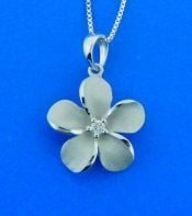 14k white gold denny wong plumeria pendant