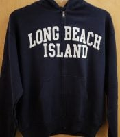 lbi navy zipper hoodie