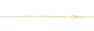 14K Gold .9mm Double Extendable Diamond Cut Cable Chain