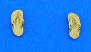 14k flip flop earrings