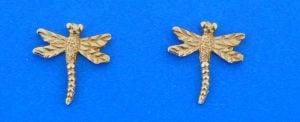 14k dragonfly post earrings