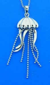 sterling silver jellyfish pendant