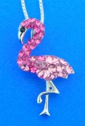 sterling silver flamingo pendant