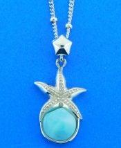larimar sterling silver starfish pendant dune jewelry