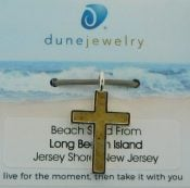 lbi beach sand cross pendant dune jewelry