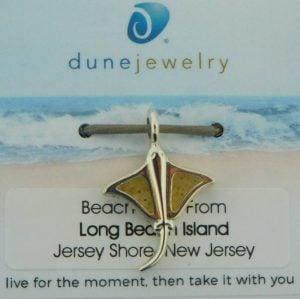 lbi beach sand stingray charm dune jewelry
