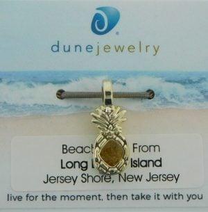lbi beach sand pineapple charm dune jewelry