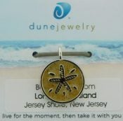 lbi beach sand dune jewelry sand dollar pendant/charm