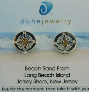 lbi dune jewelry compass rose earrings sterling silver
