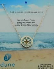 lbi sand dune jewelry compass necklace sterling silver