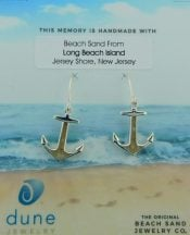 anchor earrings lbi beach sand dune jewelry