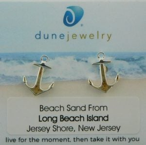 lbi dune jewelry anchor earrings sterling silver