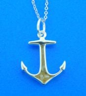 sterling silver anchor necklace lbi dune jewelry