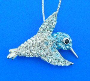 sterling silver hummingbird pendant