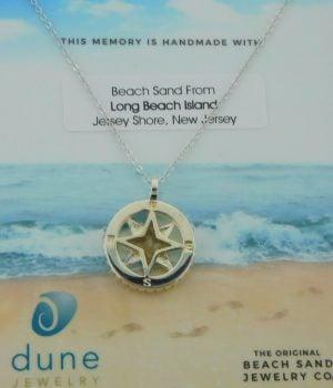 lbi dune jewelry compass pendant
