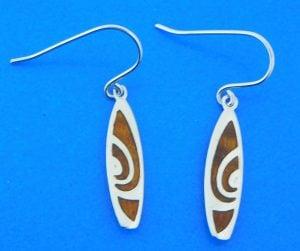 sterling silver surfboard earrings