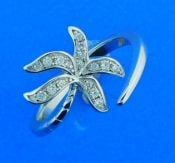 sterling silver palm tree wrap ring