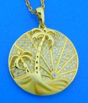 sterling silver gold plated sunrise beach