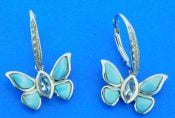 sterling silver alamea butterfly earrings