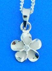 sterling silver alamea plumeria pendant
