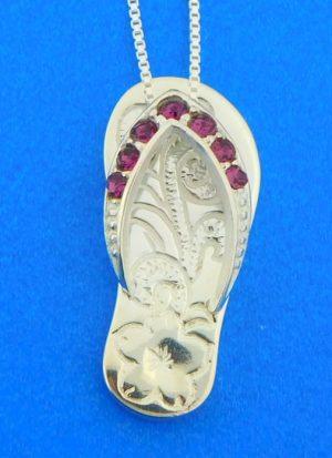 sterling silver alamea flip flop pendant