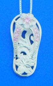 sterling silver flip flop pendant alamea