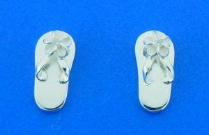 sterling silver flip flop post earrings