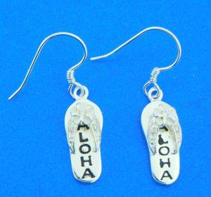 sterling silver flip flop dangle earrings