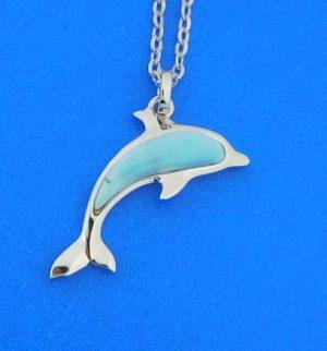 alamea dolphin larimar pendant