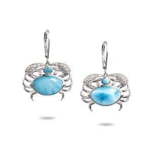 alamea crab larimar earrings