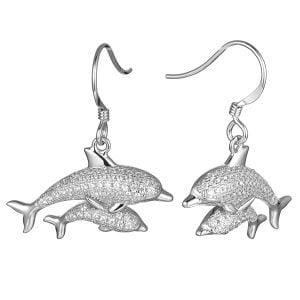 alamea dolphin dangle earrings