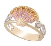 Denny Wong Sunrise Shell Ring, 14k 2-Tone