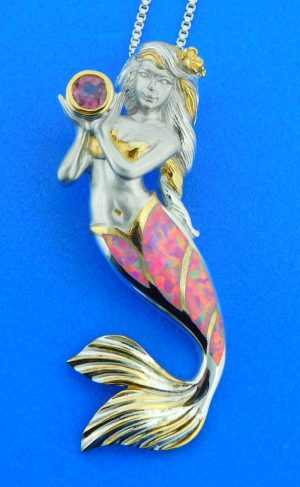 sterling silver kovel mermaid pendants
