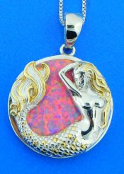 sterling silver kovel mermaid pendant