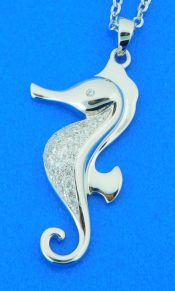 alamea sterling silver seahorse pendant