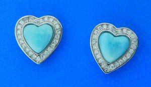alamea larimar heart earrings