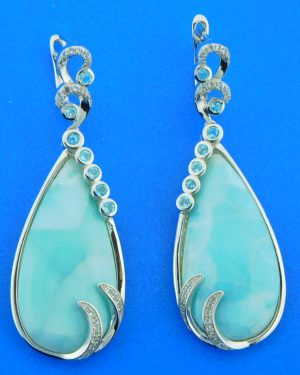 sterling silver alamea larimar earrings