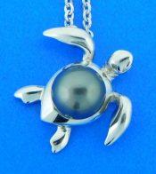 alamea honu pearl pendant sterling silver