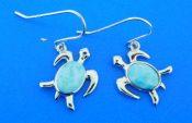 sterling silver alamea turtle earrings