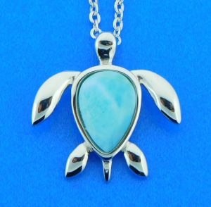 sterling silver alamea sea turtle pendant