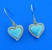 larimar heart dangle earrings