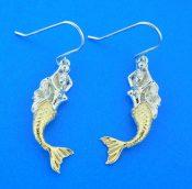alamea 2-tone mermaid earrings