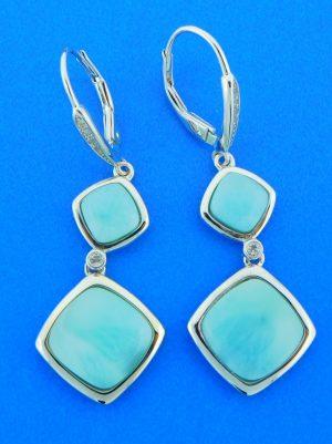 larimar dangle earrings sterling silver